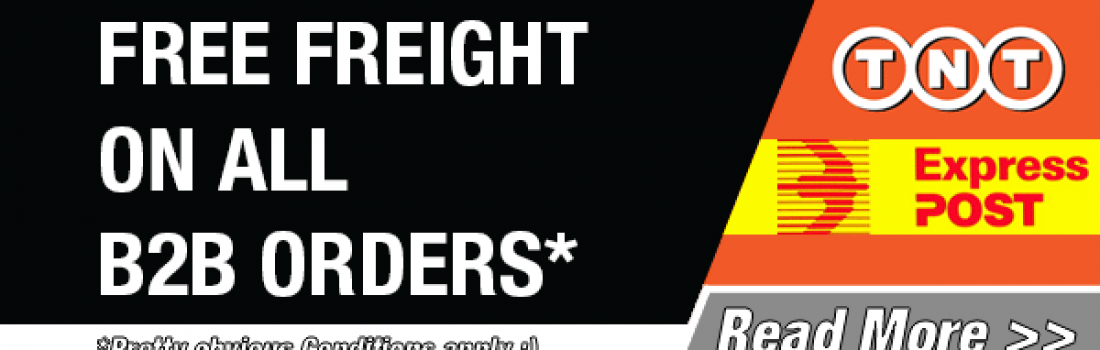 FREE freight on B2B orders